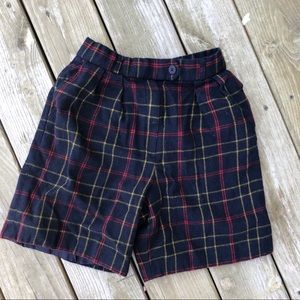 Evan picone petites wool plaid shorts 10 pockets